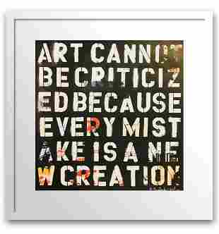 "Mr. Brainwash- Original Offset Lithograph on Paper ""Art"