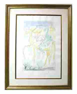 """Salvador Dali- Original Engravings with color """"Adam and"""