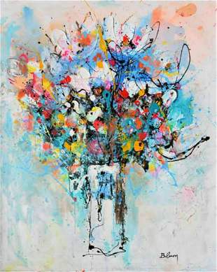 "Blum- Acrylic on Canvas ""Untitled"""
