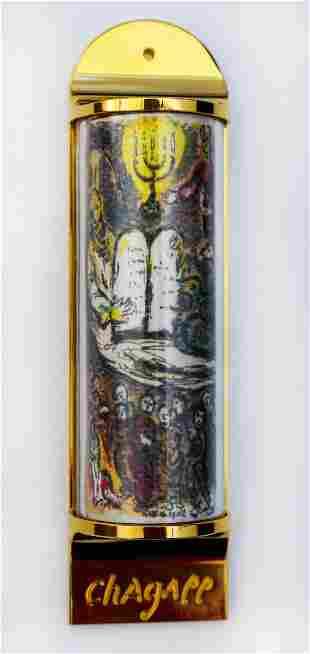 Marc Chagall - Mezuzah - silkscreen on 24K gold plated