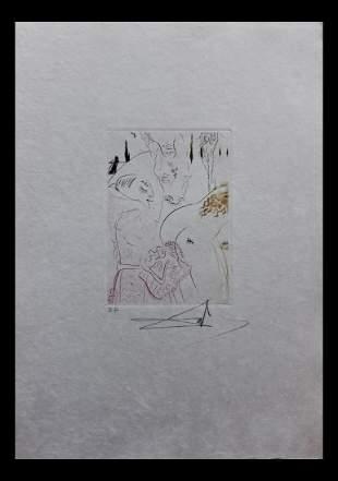 "Salvador Dali- Original Engravings in color ""Le Jument"