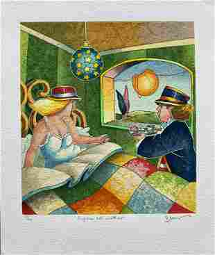"Francesco Nesi- Original Serigraph on Paper ""SORPRESA"