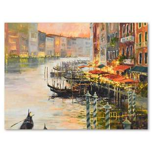 """Marilyn Simandle, """"Canal at Dusk"""" Limited Edition on"""
