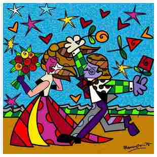 """Romero Britto """"I Love You"""" Hand Signed Limited Edition"""