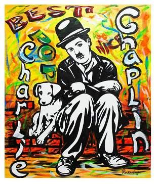 "Nastya Rovenskaya- Original Oil on Canvas ""A Dog's"