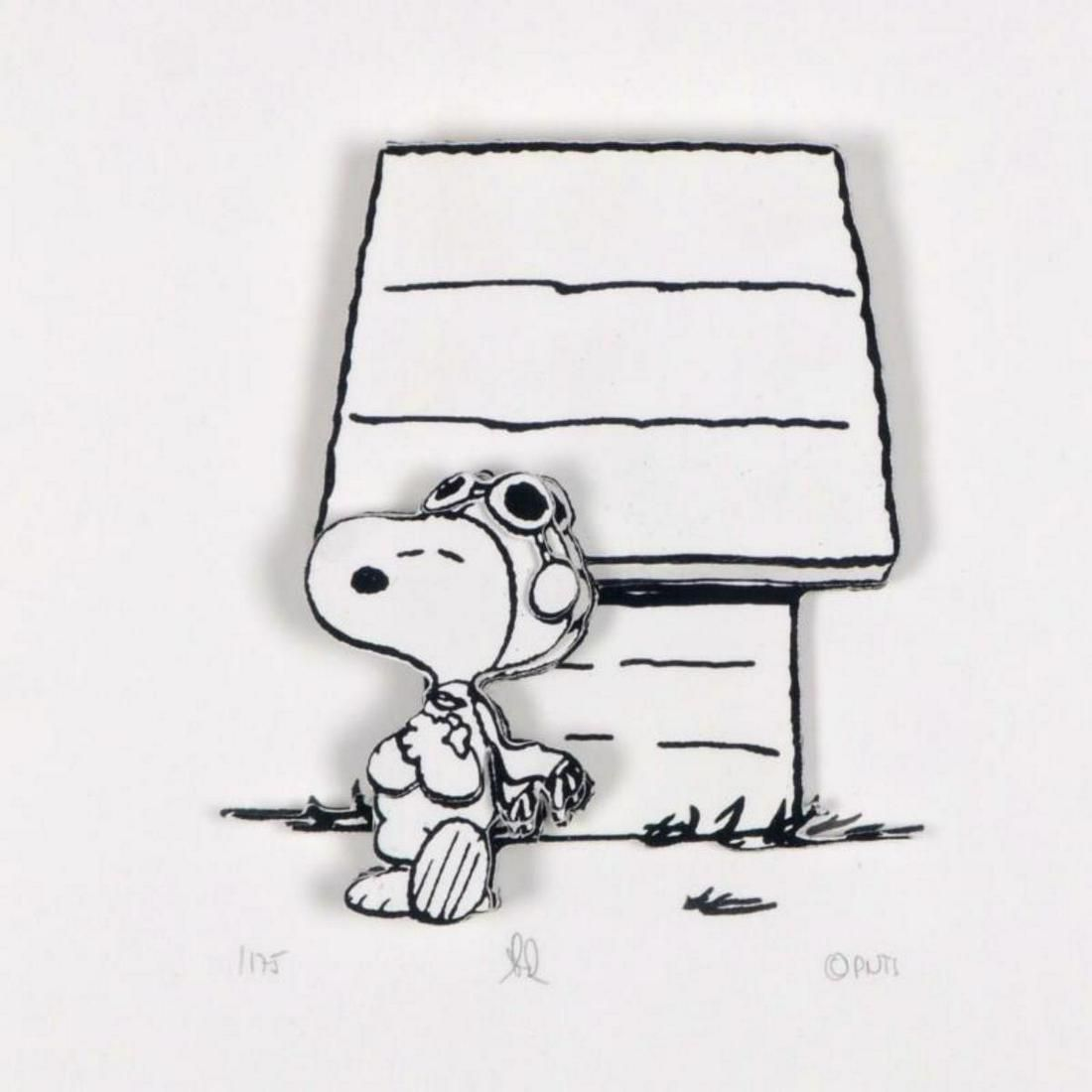 """Peanuts, """"Hero"""" Hand Numbered Limited Edition 3D"""
