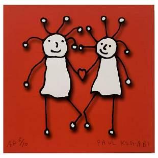 "Paul Kostabi, ""SPRKL Love (Red)"" Hand Signed Limited"