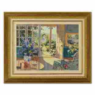 """Marilyn Simandle, """"Sunlit Cottage"""" Framed Limited"""