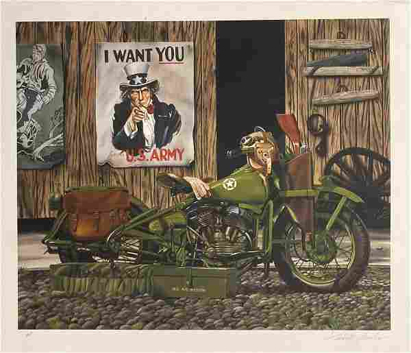 """Scott Jacobs- Serigraph on Paper """"I Want You US Army"""""""