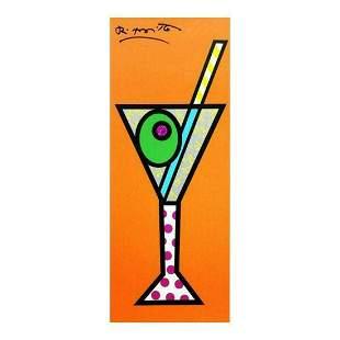 """Romero Britto """"Tangerine Martini"""" Hand Signed Limited"""