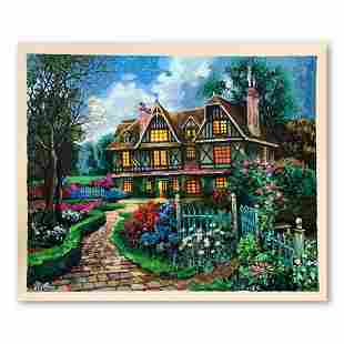 """Anatoly Metlan, """"Country Cottage"""" Hand Signed Limited"""