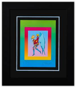 """Peter Max- Original Lithograph """"Tip Toe Floating on"""