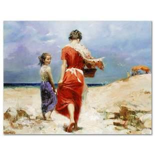 "Pino (1939-2010), ""Summer Retreat"" Artist Embellished"