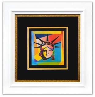 "Peter Max- Original Lithograph ""Liberty Head XVI"
