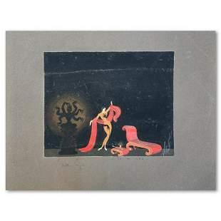 "Erte (1892-1990), ""Mains noires, decor"" Original Gauche"