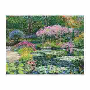 """Howard Behrens (1933-2014), """"Giverny Lily Pond"""" Limited"""