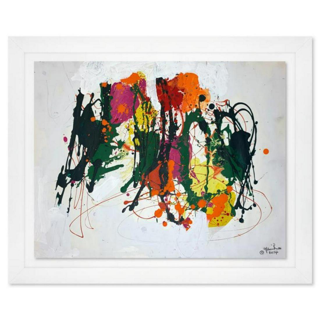 Jenik Cook, Framed Original Acrylic Painting, Hand
