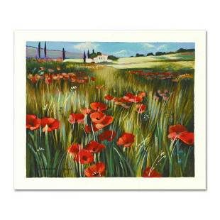 """Yuri Dupond, """"Red Meadow"""" Limited Edition Serigraph,"""