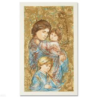 """""""Golden Times"""" Limited Edition Serigraph by Edna Hibel"""