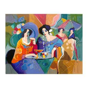 """Isaac Maimon, """"Cafe Array"""" Limited Edition Serigraph,"""