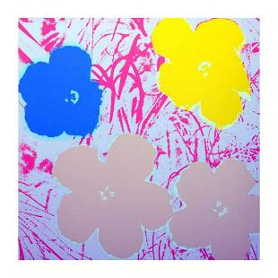 """Andy Warhol """"Flowers 11.70"""" Silk Screen Print from"""