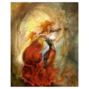 """Lena Sotskova, """"Firebird"""" Hand Signed, Artist"""