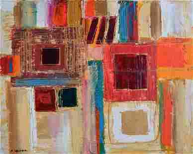 "Leider- Mixed Media on Canvas ""Untitled"""