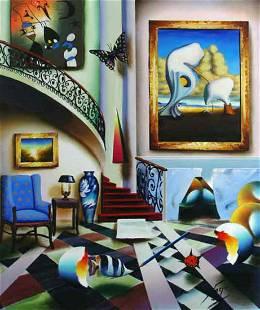 """Ferjo """"SURREALIST STAIRWAY"""" Giclee on Canvas"""
