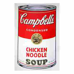 """Andy Warhol """"Soup Can 11.45 (Chicken Noodle)"""" Silk"""