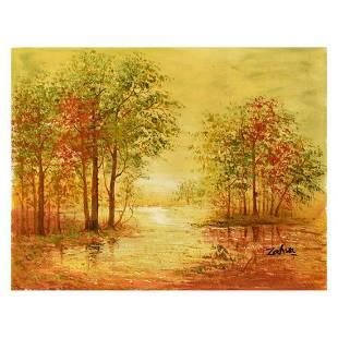 "Zahra, Original Oil Painting on Canvas (40"" x 30""),"
