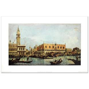 """""""Canal of San Marco with the Piazza San Marco"""" Fine Art"""