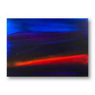 "Wyland, ""Sunset Sea 4"" Hand Signed Original Painting on"