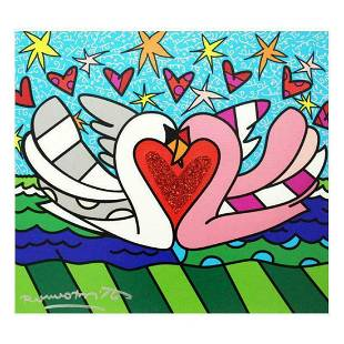 """Romero Britto """"Soul Mate"""" Hand Signed Limited Edition"""