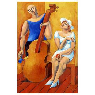 """Yuroz, """"The Cello"""" Hand Signed Limited Edition"""