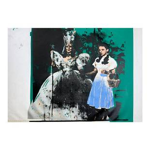 """Steve Kaufman (1960-2010) """"Dorothy and the Good Witch"""""""