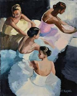 """Yuknho- Acrylic on Canvas """"Untitled"""""""