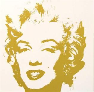 """Andy Warhol- Silk Screen """"Golden Marilyn 11.41"""""""