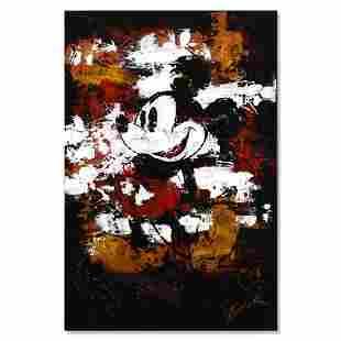 "Trevor Mezak, ""Mickey"" Original Mixed Media Acrylic"