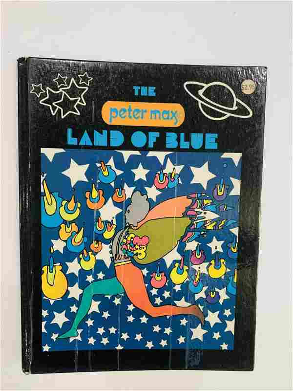 Peter Max Hard Cover book in color