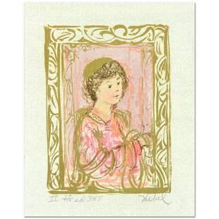 """Edna Hibel (1917-2014), """"Meditation"""" Limited Edition"""