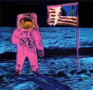 "Andy Warhol- Silk Screen ""The Moonwalk"""