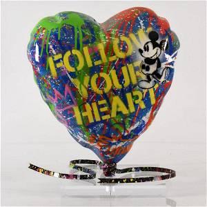 "Mr. Brainwash Original Mixed Media Sculpture ""Balloon"
