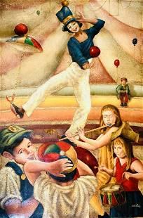 Armando Barrios Original one of a kind oil painting on