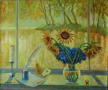 "Alexander Borewko- Original Oil on Canvas ""Writing to"