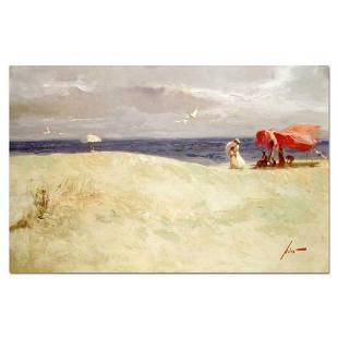 "Pino (1939-2010), ""White Sand"" Artist Embellished"