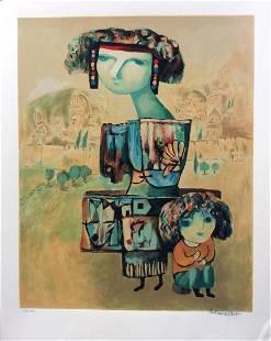 "Gregory Kohelet- Original Serigraph ""Motherhood"""