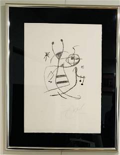 "Joan Miro Lithograph on paper ""Maravillas"""