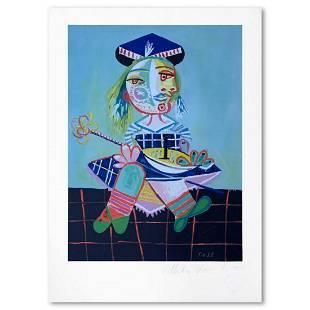 "Pablo Picasso (1881-1973), ""Materinite qu Fideau Rouge"""