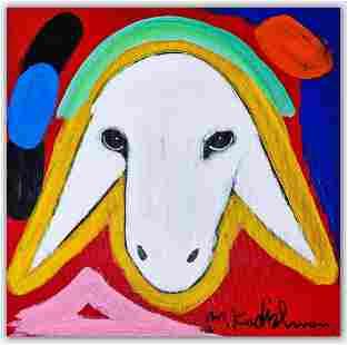 Menashe Kadishman- Original Acrylic on Canvas