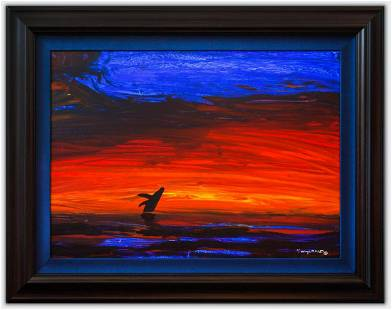 "Wyland- Original Painting on Canvas ""Ocean Twilight"""